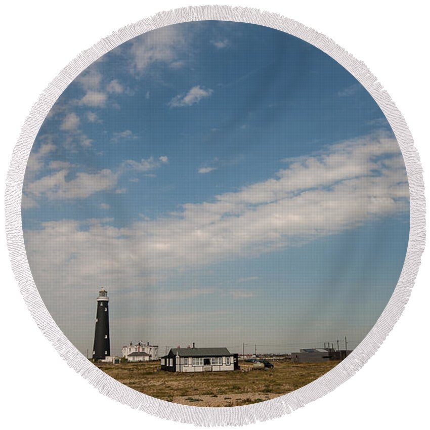 Boat Round Beach Towel featuring the photograph Dungeness Landscape by Dawn OConnor