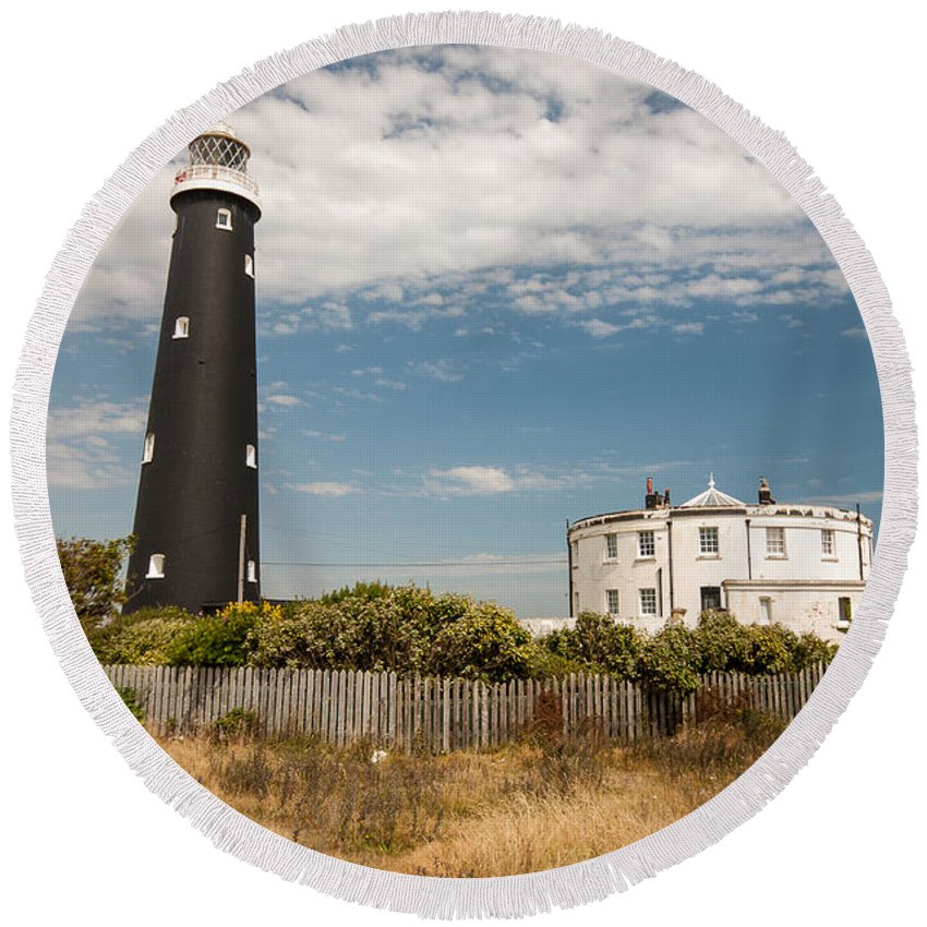 Boat Round Beach Towel featuring the photograph Dungeness View by Dawn OConnor