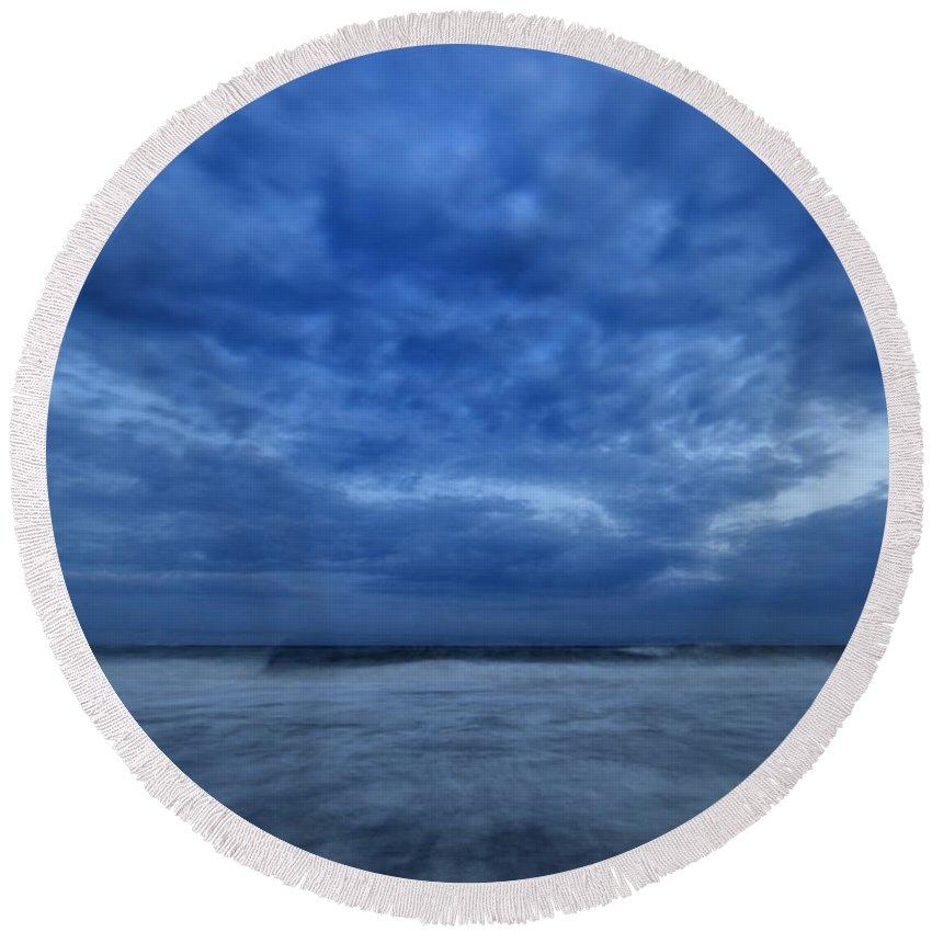 Dusk Round Beach Towel featuring the photograph Dusk On Fire Island by Rick Berk