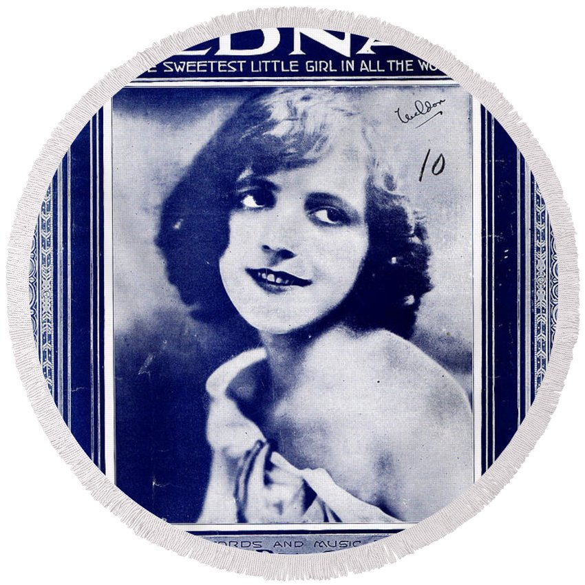 Classic Round Beach Towel featuring the photograph Edna by Mel Thompson