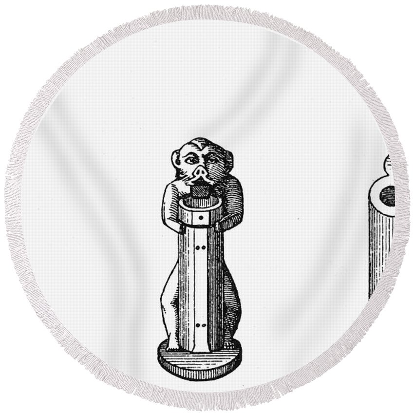 Ancient Round Beach Towel featuring the photograph Egypt: Cosmetic Pots by Granger