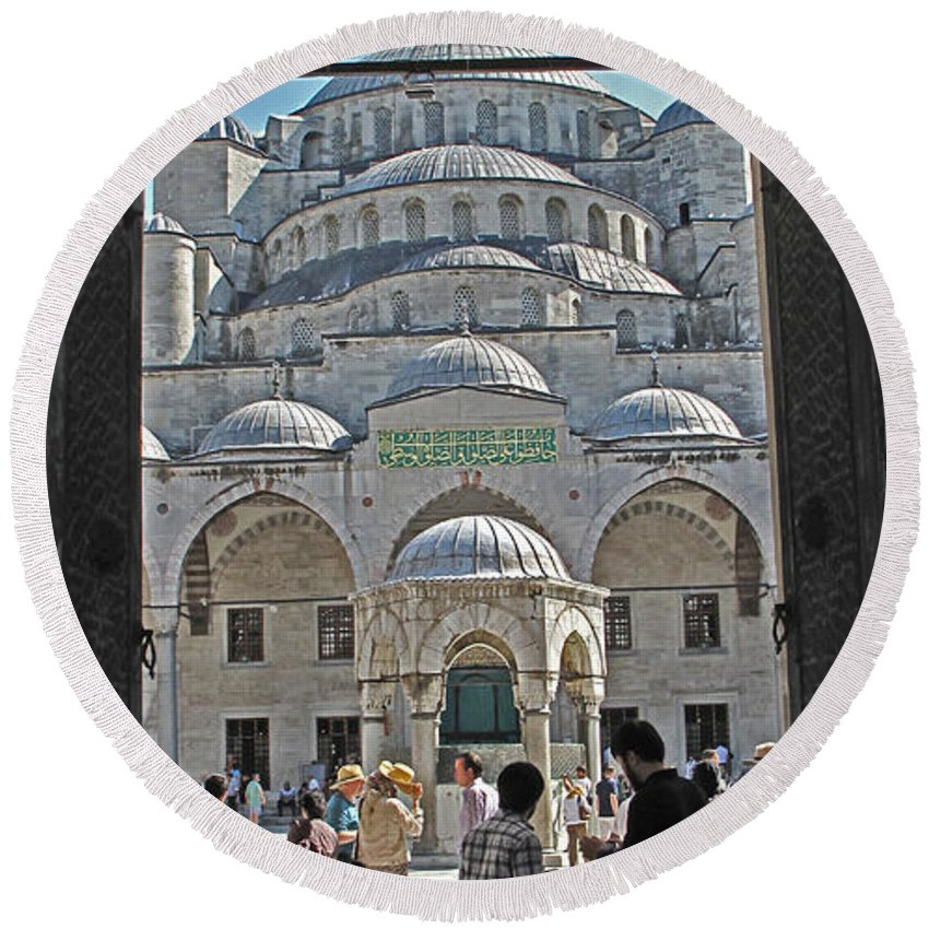 Istanbul Round Beach Towel featuring the photograph Far From Home by Ian MacDonald