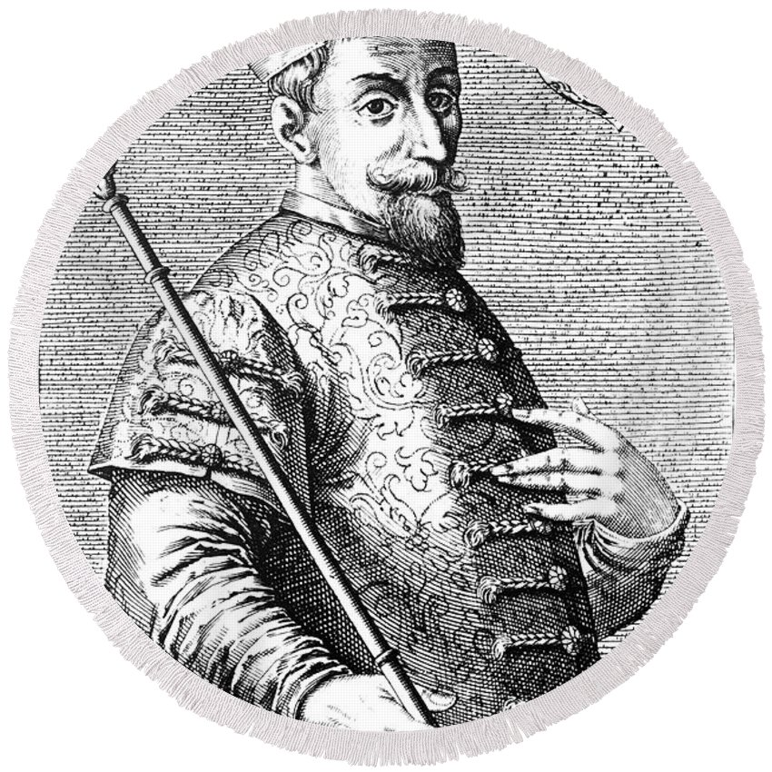 16th Century Round Beach Towel featuring the photograph Feodor I Ivanovich by Granger