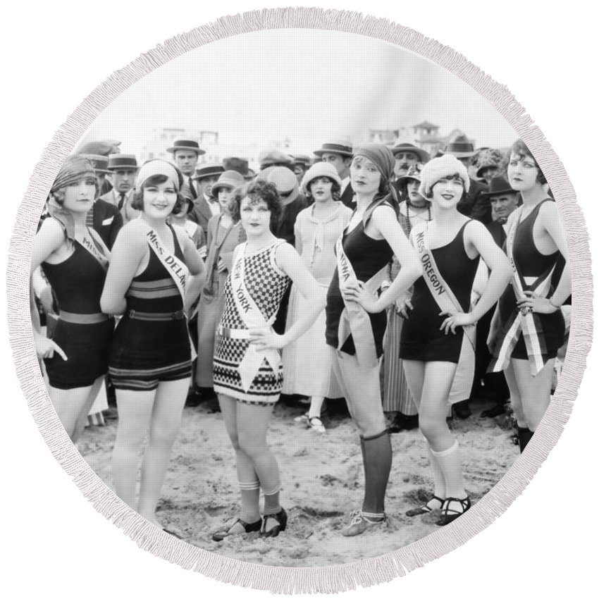 -beauty Pagent- Round Beach Towel featuring the photograph Film Still: Beauty Pageant by Granger