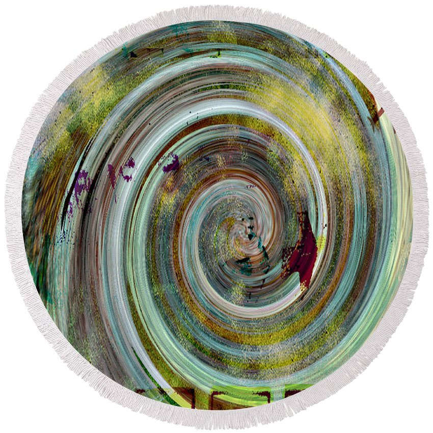 Abstract Art Round Beach Towel featuring the photograph Flying Circles by The Artist Project