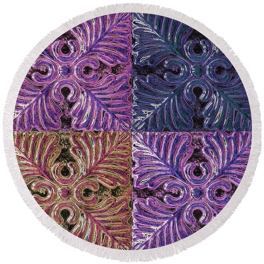 Wall Art Round Beach Towel featuring the photograph Four Times Four IIi by Debbie Portwood