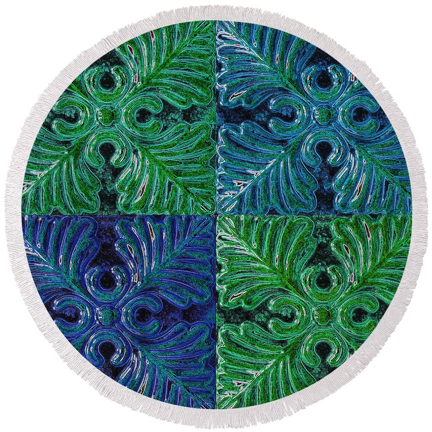 Wall Art Round Beach Towel featuring the photograph Four Times Four Vii by Debbie Portwood