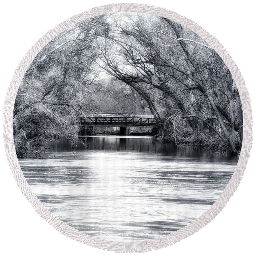 French Creek Round Beach Towel featuring the photograph French Creek by Bill Cannon