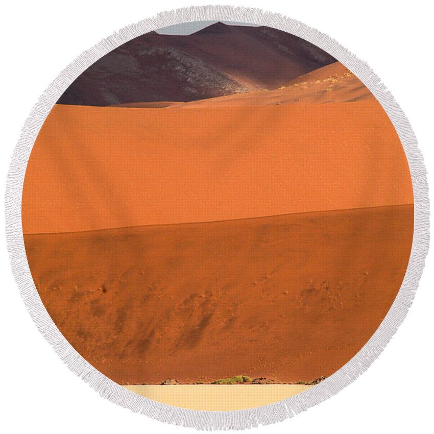 Africa Round Beach Towel featuring the photograph From Afar by Alistair Lyne