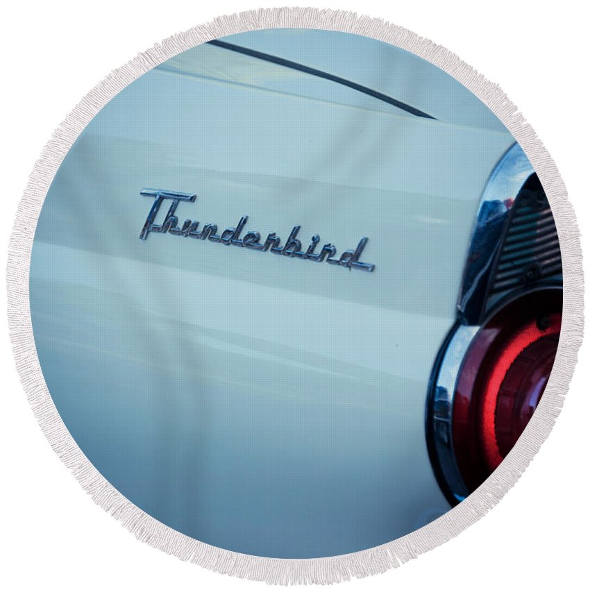 Thunderbird Round Beach Towel featuring the photograph Good Times by Trish Tritz