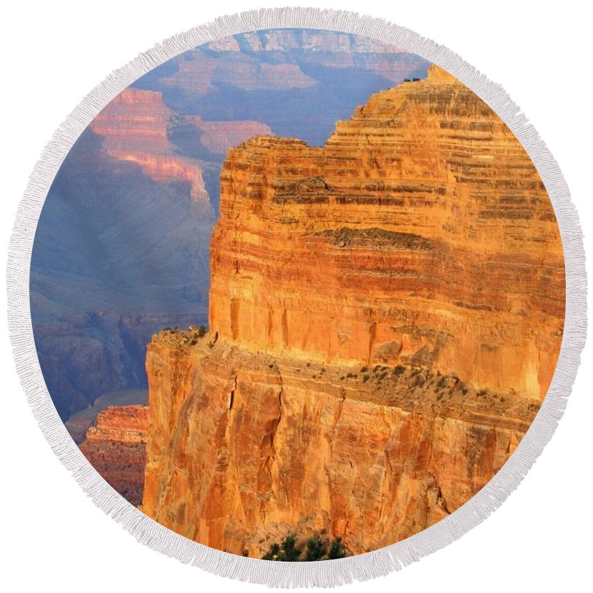 Grand Canyon Round Beach Towel featuring the photograph Grand Canyon 27 by Will Borden