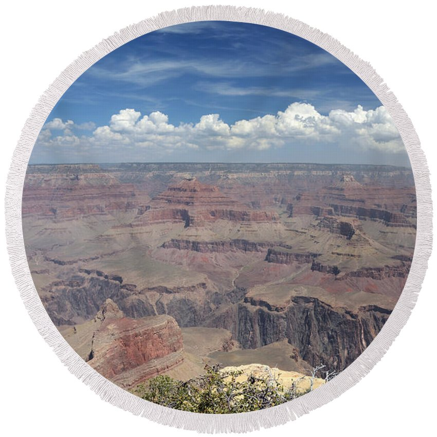 Grand Canyon Round Beach Towel featuring the photograph Grand Canyon by Cassie Marie Photography