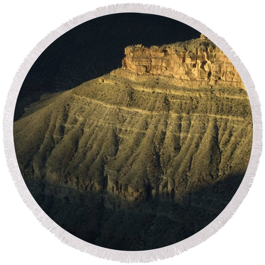 Grand Canyon Round Beach Towel featuring the photograph Grand Canyon Silence by Bob Christopher