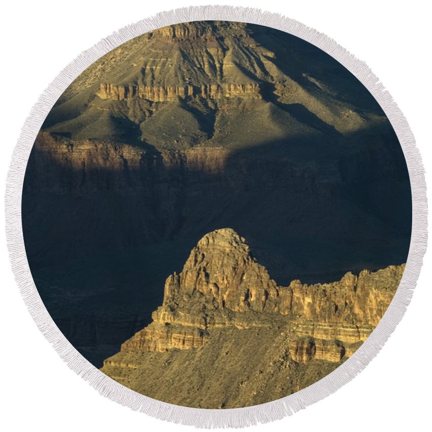 Grand Canyon Round Beach Towel featuring the photograph Grand Canyon Vignette 2 by Bob Christopher