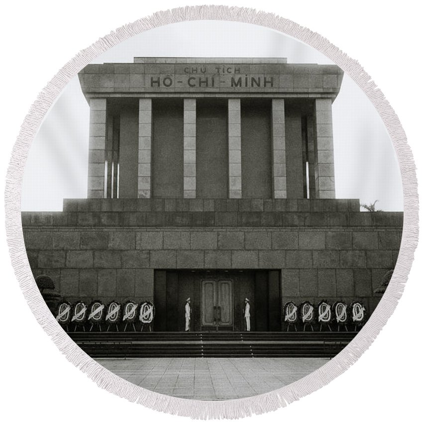 Asia Round Beach Towel featuring the photograph Ho Chi Minh Mausoleum by Shaun Higson
