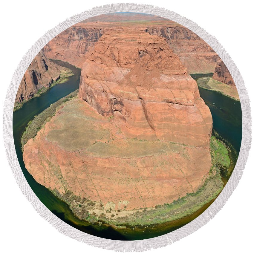 Horseshoe Bend Round Beach Towel featuring the photograph Horseshoe Bend by Cassie Marie Photography