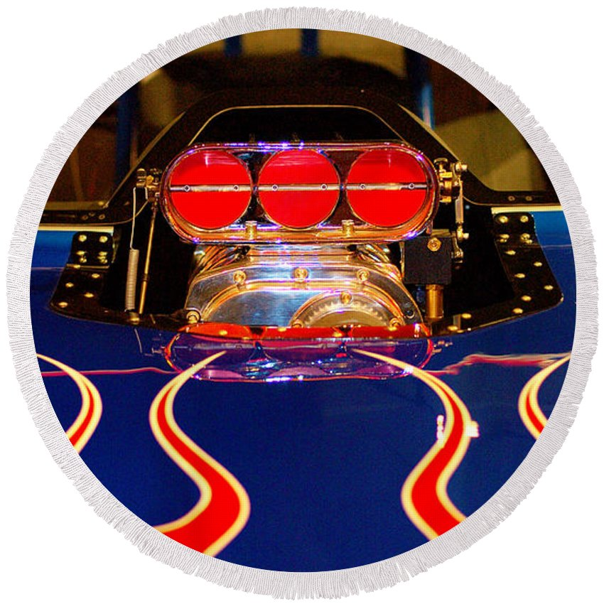 Hot Rod Round Beach Towel featuring the photograph Hot Rod 1 by Micah May
