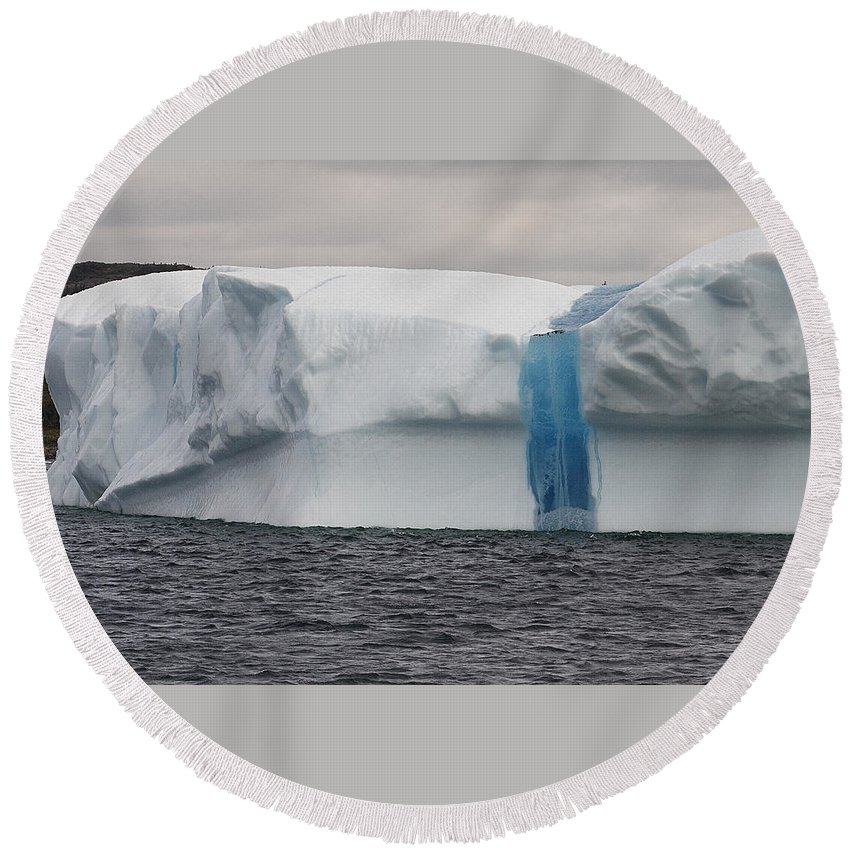 Iceberg Round Beach Towel featuring the photograph Iceberg by Eunice Gibb