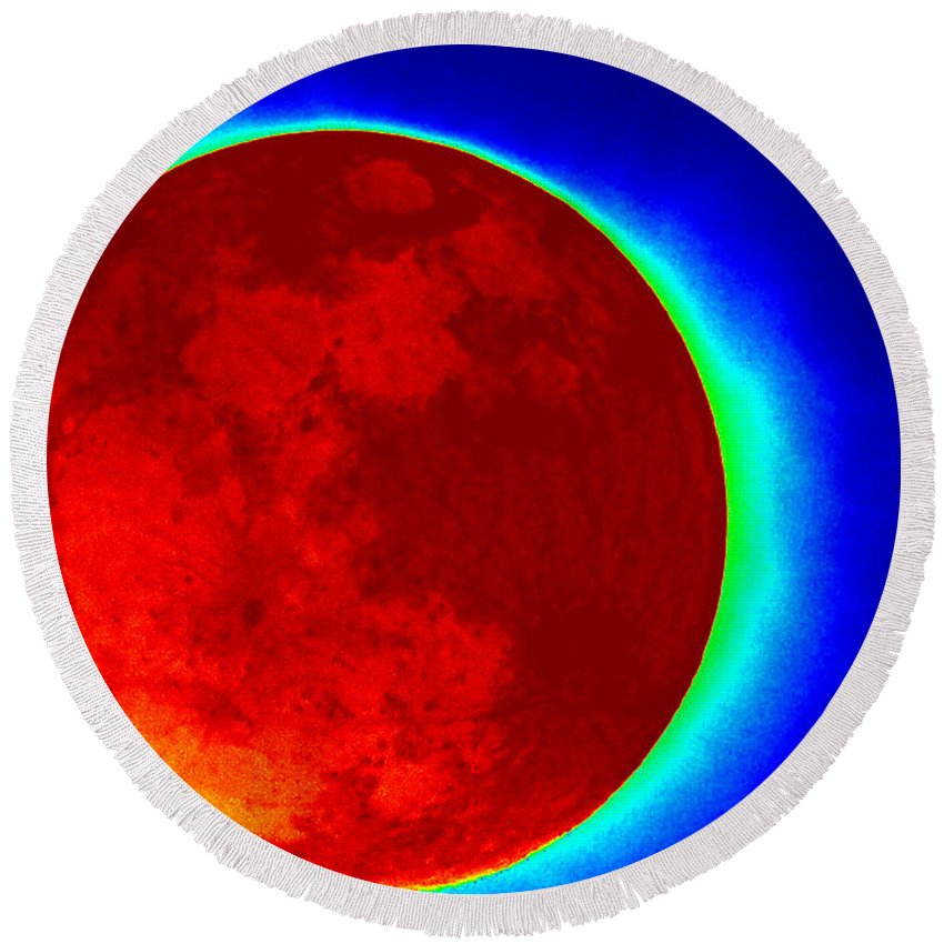 Infrared Round Beach Towel featuring the photograph Infrared Super Moon 2012 by Sheri McLeroy