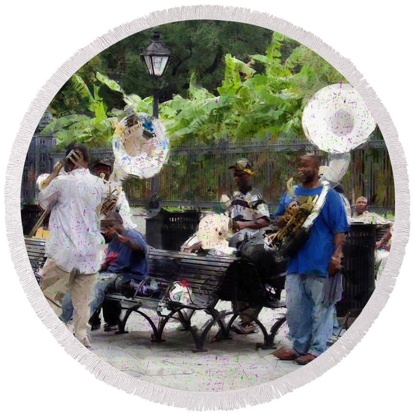 Band Round Beach Towel featuring the photograph Jackson Square Sound by Scott Crump