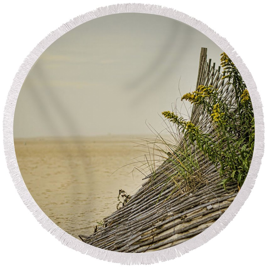Beach Round Beach Towel featuring the photograph Jersey Shore by Heather Applegate