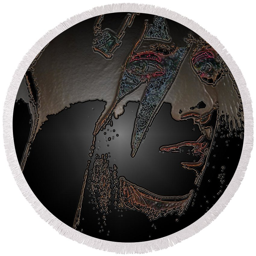 27 Photographs Round Beach Towel featuring the photograph Ladygaga by The Artist Project