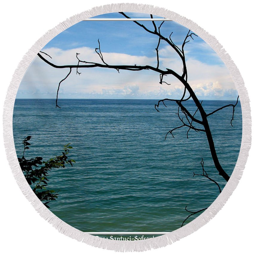 Lake Ontario Round Beach Towel featuring the photograph Lake Ontario Near Chimney Bluffs by Rose Santuci-Sofranko