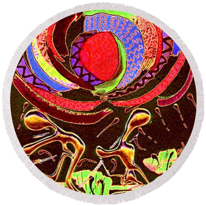 Spiritual Round Beach Towel featuring the digital art Lead Me... I Will Follow by Angela L Walker