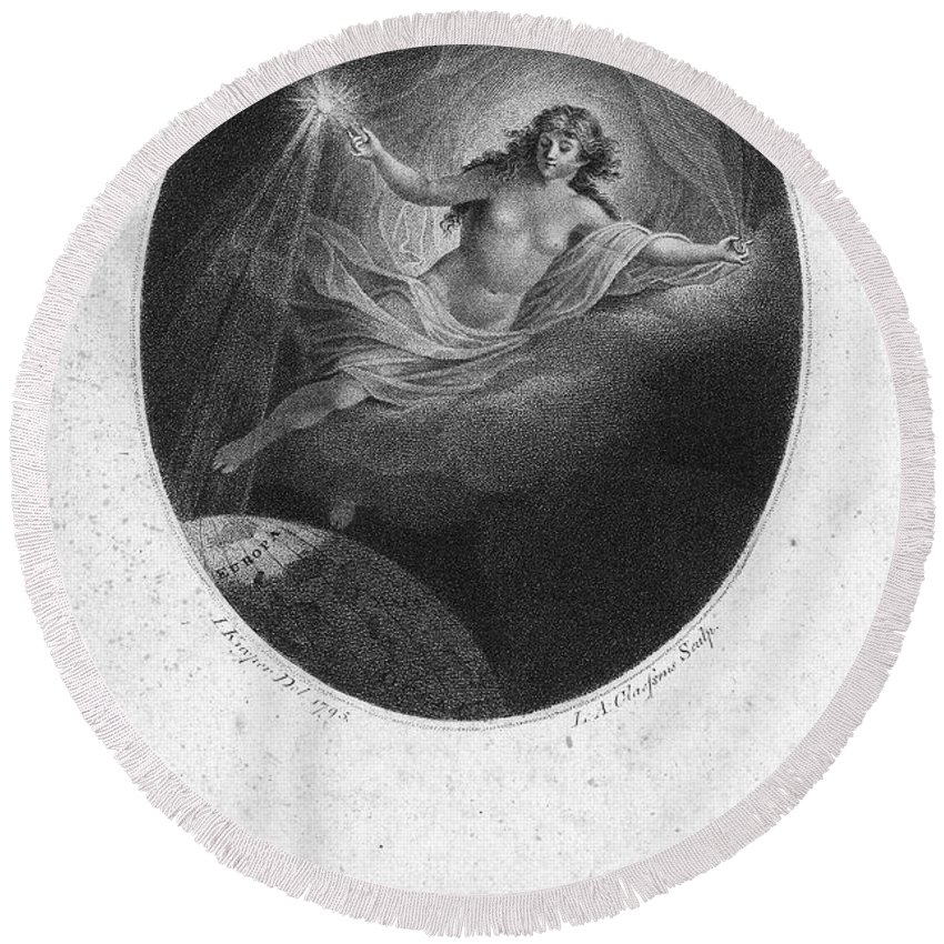 1795 Round Beach Towel featuring the photograph Light Over Amsterdam, 1795 by Granger