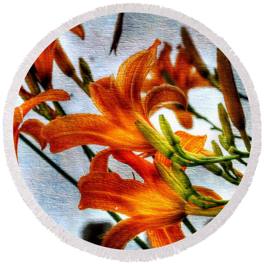 Lilly Round Beach Towel featuring the photograph Lilly by Todd Hostetter