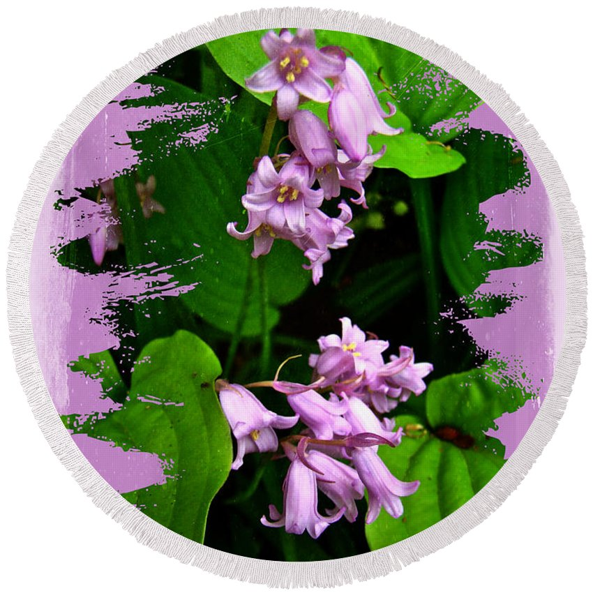 Floral Round Beach Towel featuring the photograph Lily Of The Valley - In The Pink #1 by Mother Nature