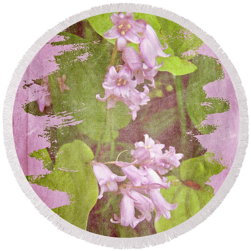 Floral Round Beach Towel featuring the photograph Lily Of The Valley - In The Pink #3 by Mother Nature
