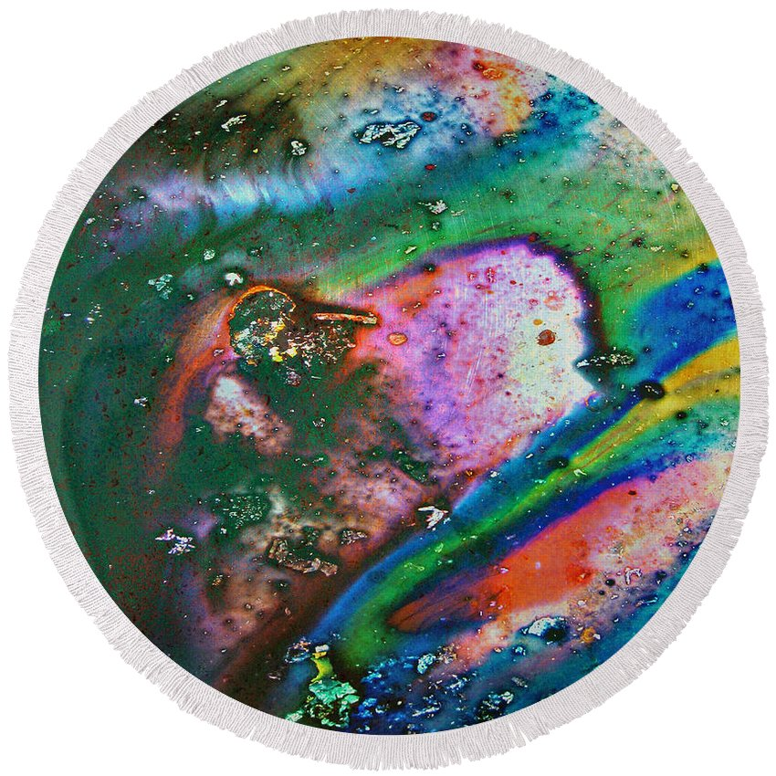 : Jerry Cordeiro Photographs Photographs Photographs Photographs Framed Prints Round Beach Towel featuring the photograph Liquid Candy by The Artist Project