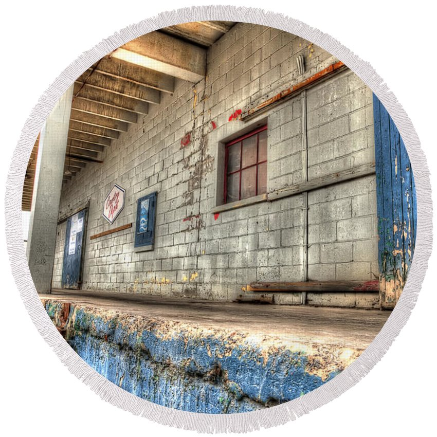 Acrylic Prints Round Beach Towel featuring the photograph Loading Dock by John Herzog