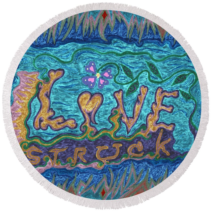 Love Round Beach Towel featuring the photograph Love Struck by Kenneth James