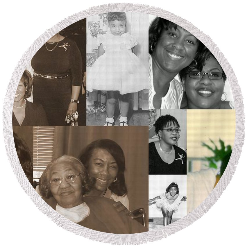 Round Beach Towel featuring the photograph Madge's Daughters by Angela L Walker