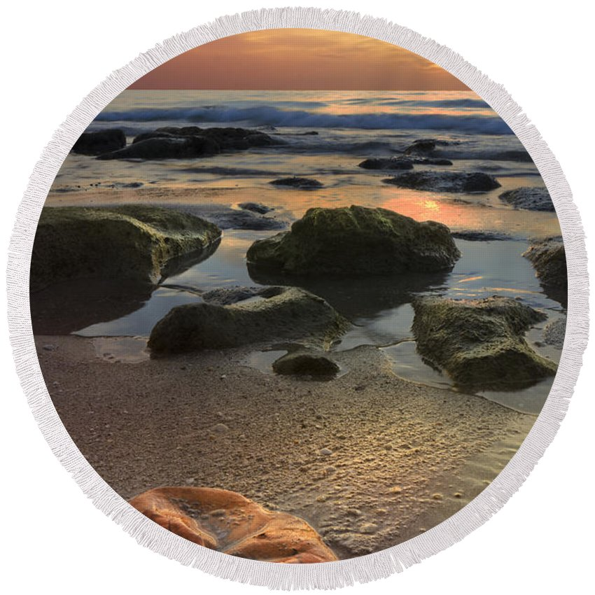 Clouds Round Beach Towel featuring the photograph Magic Every Moment by Debra and Dave Vanderlaan