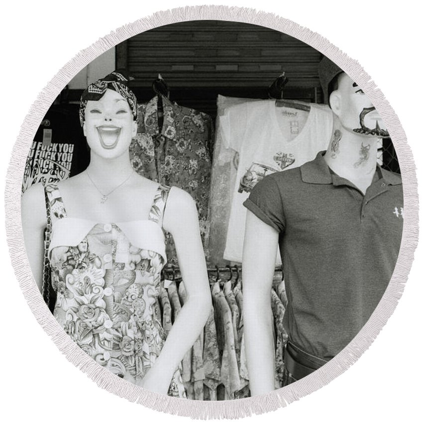 Asia Round Beach Towel featuring the photograph Mannequins by Shaun Higson