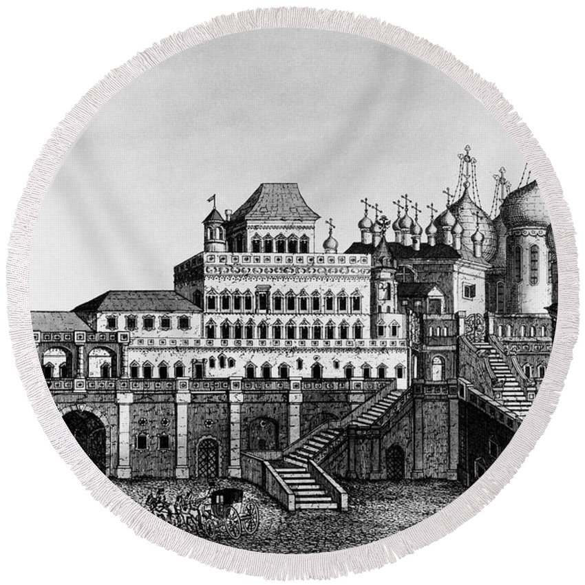 18th Century Round Beach Towel featuring the photograph Moscow: Terem Palace by Granger