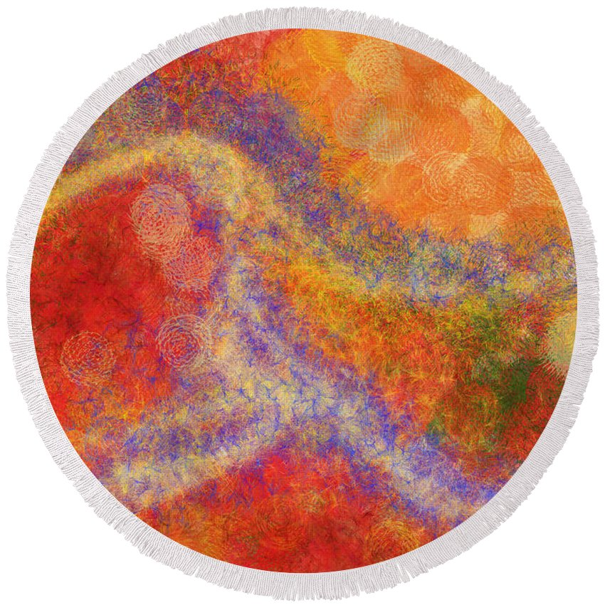 Mystical Round Beach Towel featuring the digital art Mystical Journey by Robin Lewis