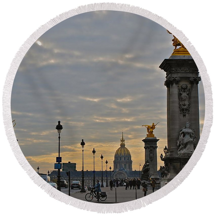 Paris Round Beach Towel featuring the photograph Napoleon Leftovers by Eric Tressler
