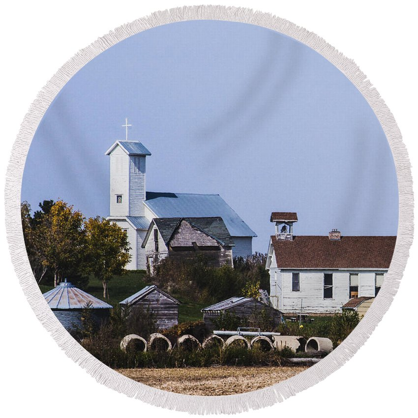 Churches Round Beach Towel featuring the photograph Nation Backbone by Edward Peterson