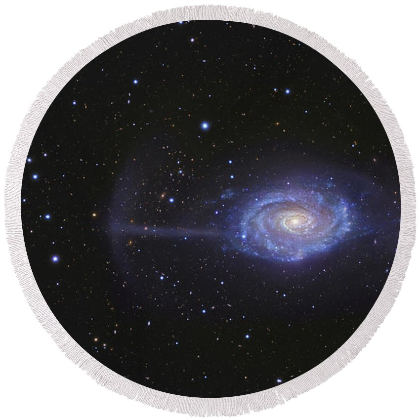 Deep Space Round Beach Towel featuring the photograph Ngc 4651, The Umbrella Galaxy by R Jay GaBany