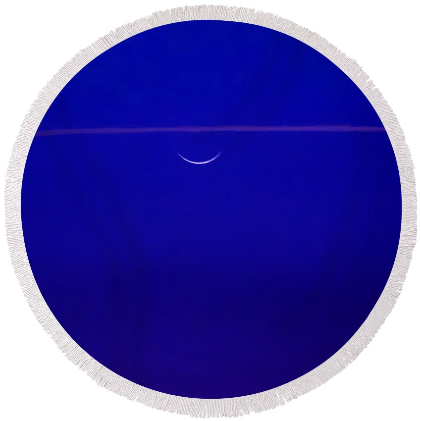 Moon Round Beach Towel featuring the photograph Night Cap by Roger Wedegis