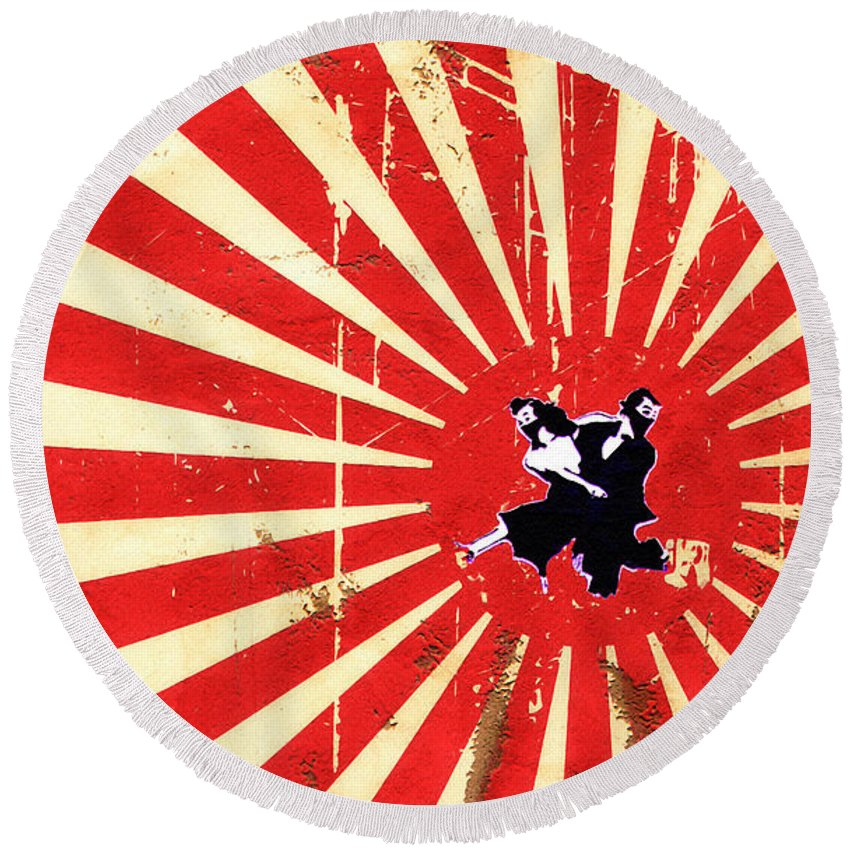 Ninjas Round Beach Towel featuring the photograph Ninjas by Bill Cannon