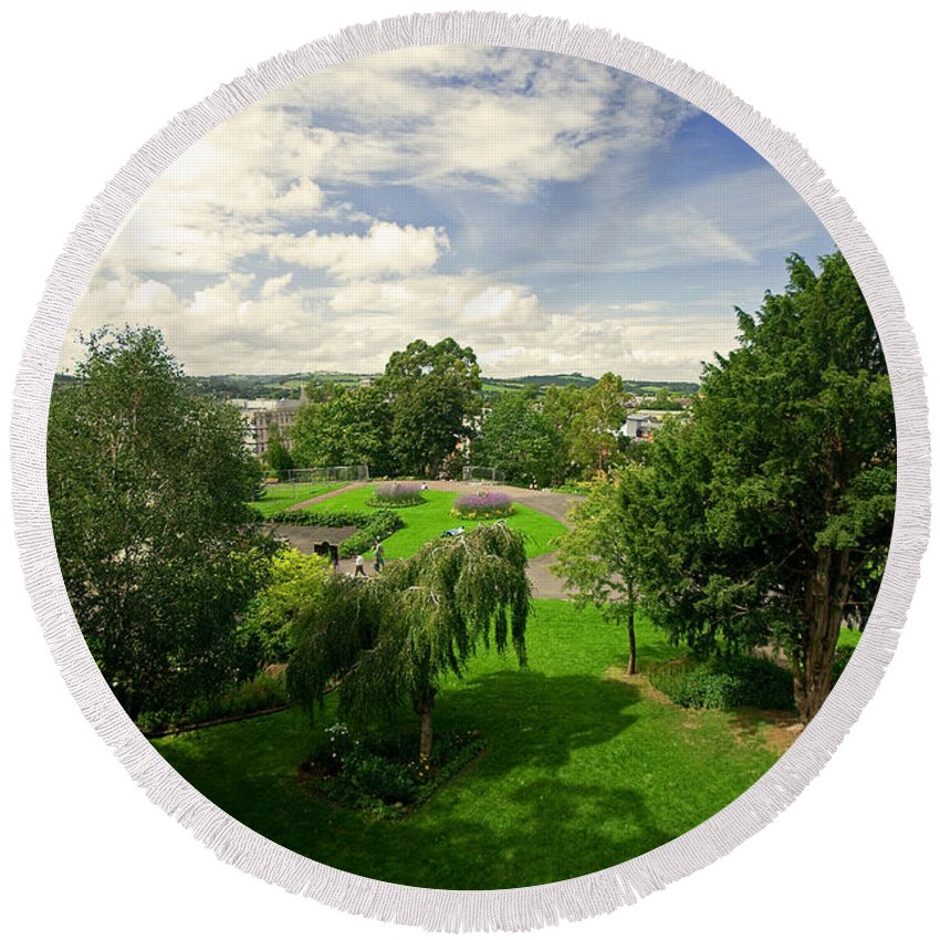 Exeter Round Beach Towel featuring the photograph Northernhay Gardens by Rob Hawkins