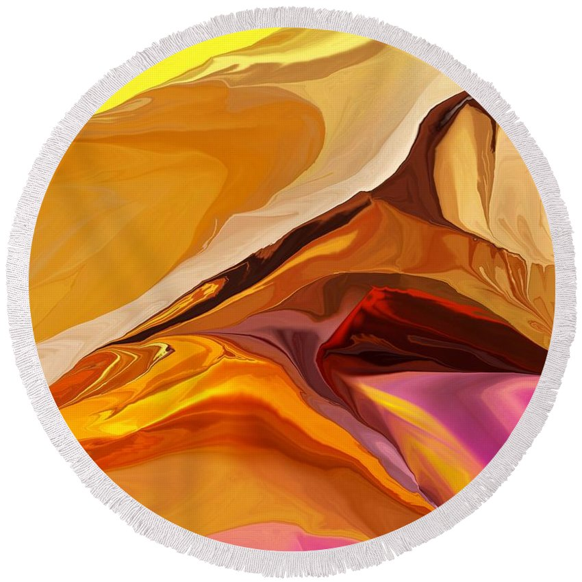 Fine Art Round Beach Towel featuring the digital art Painted Desert 012612 by David Lane
