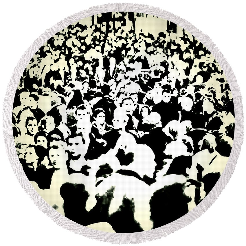Crowds Round Beach Towel featuring the photograph Peoples Extract by The Artist Project