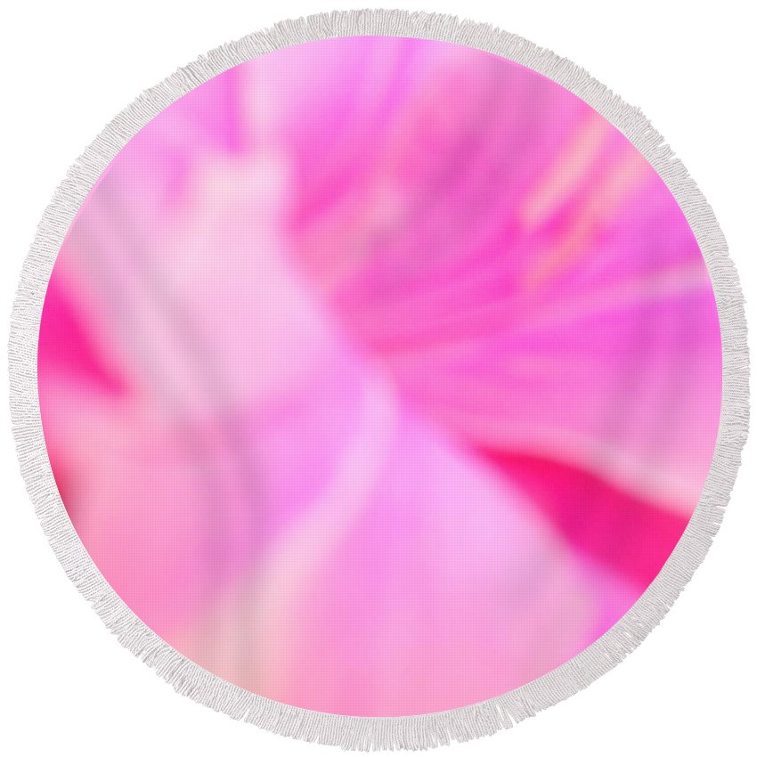 Pink Round Beach Towel featuring the photograph Pink by Alexandra Masson