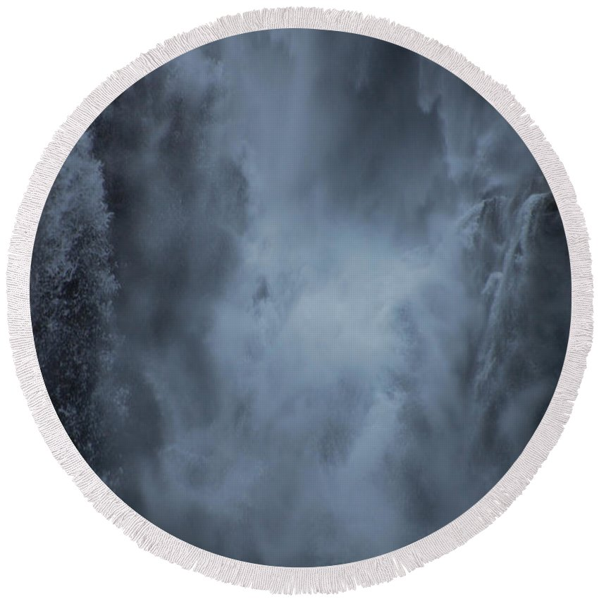 Water Round Beach Towel featuring the photograph Power Of Water by Jonah Anderson